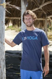 I Om Yoga, short sleeve, navy