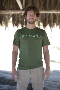 Breathe Deeply, short sleeve, olive