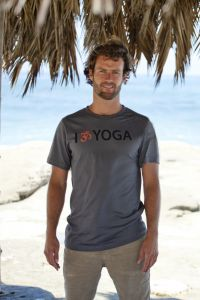 I Om Yoga, short sleeve, grey