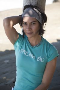 Dream Big, short sleeve, teal