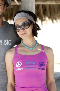 Peace Love Yoga, tank top, berry