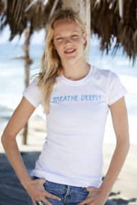 Breathe Deeply, short sleeve, white