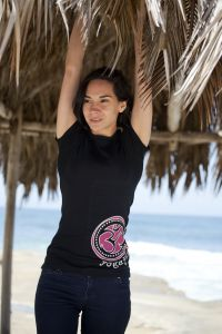 YogaJunkie Side Logo, short sleeve, black