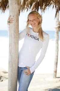 I (Heart) Yoga, long sleeve, white