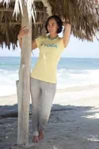I (Heart) Yoga, short sleeve, yellow