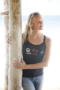 Peace Love Yoga, tank top, black