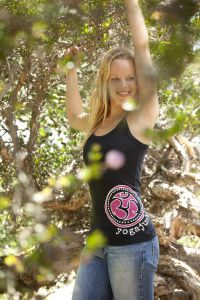 YogaJunkie Side Logo, tank top, black