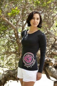YogaJunkie Side Logo, long sleeve, black