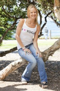 I (Heart) Yoga, tank top, white