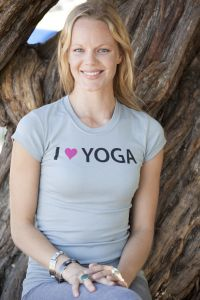 I (Heart) Yoga, short sleeve, granite