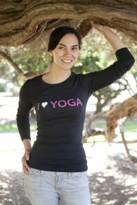 I (Heart) Yoga, long sleeve, black