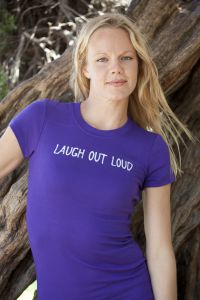 Laugh Out Loud, short sleeve, purple
