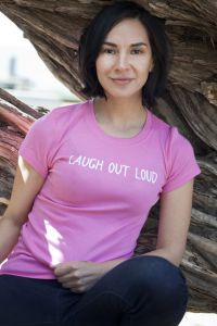 Laugh Out Loud, short sleeve, very pink