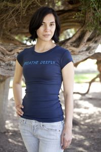 Breathe Deeply, short sleeve, navy